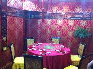 The private room for the Peking duck experience